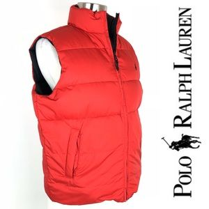 Polo Ralph Lauren Reversible Down Vest, Med 12/14